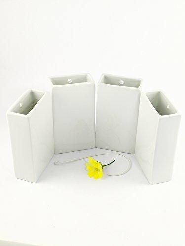 Abc_baño Humidificador de Porcelana Blanco 4 Unidades