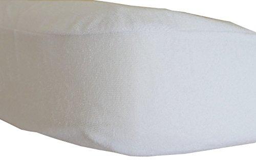art2sleep Matratzenschoner wasserdicht mit einem Rundumgummi | 90 x 200 + 20 cm | Frottee | wasserundurchlässig | atmungsaktiv | geruchlos | trocknergeeignet | Spannbezug Matratzenschonbezug Matratzenschutz Inkontinenz Spannbettlaken | weiß (90x200)