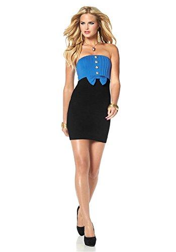 Melrose -  Vestito  - Opaco - Donna blu cina/nero