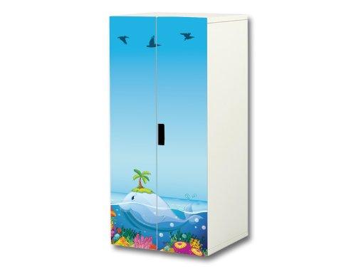 """""""Unterwasserwelt"""" Aufkleber-Set passend für den Kinderzimmer Schrank STUVA von IKEA (Korpus: 60 x 128 cm) – SC28"""