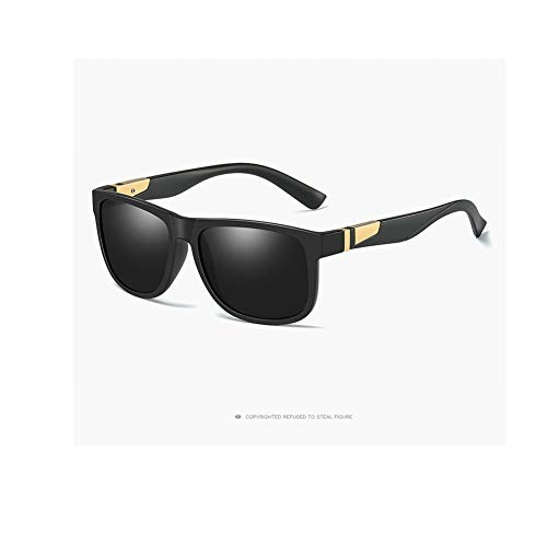 Huanxin Unisex polarisierte Sonnenbrille, Aluminium Magnesium Sport Outdoor Reiten Sonnenbrille Mode Retro Big Box Superlight Frame Sonnenbrille,b