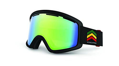 Preisvergleich Produktbild Vonzipper Beefy Herren Schneebrille Snowmobile Brille Brille Vibration Schwarz Satin Quasar Chrome One Size