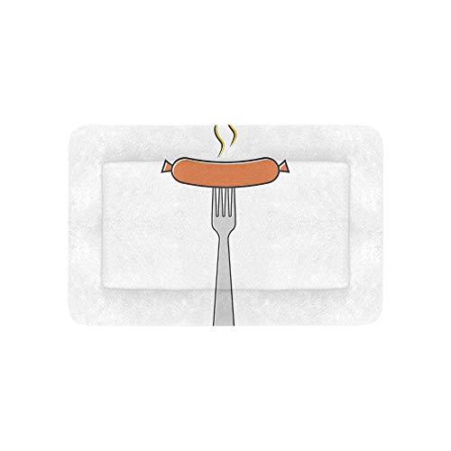 Kalorien Food Bar (Red Delicious Wurst Fleisch Fast Food Extra Große Individuell Bedruckte Bettwäsche Weiche Hundebett Für Welpen Und Katzen Möbel Matte Höhlenauflage Kissen Innen Geschenk Lieferanten 36 X 23 Zoll)