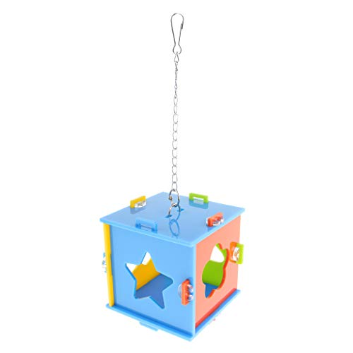 Bird Toys - Bird S Parrot Creation Aging Box Food Inside 12cm Square - Playground Calcium Cockatoo Under Seagrass Ladder Beads Coconut Planet Shredder Pinata Japanese Popsicle Kids Sale Clips -
