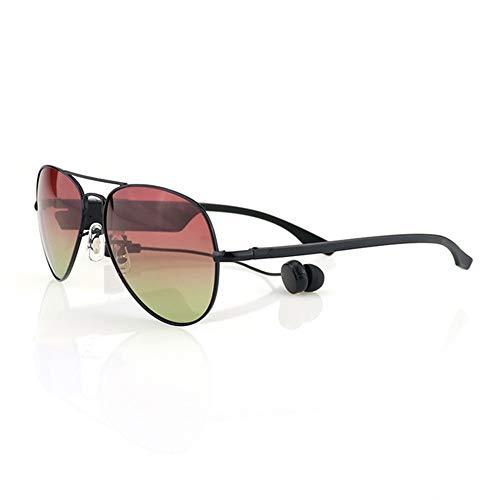 WMWHALE Audiobrille Bluetooth 4.1 Headset-Sonnenbrille Polarisiertes kabelloses Stereo-Headset EDR Freisprecheinrichtung Kopfhörer Musik Kopfhörer Outdoor-Sonnenbrille,Red
