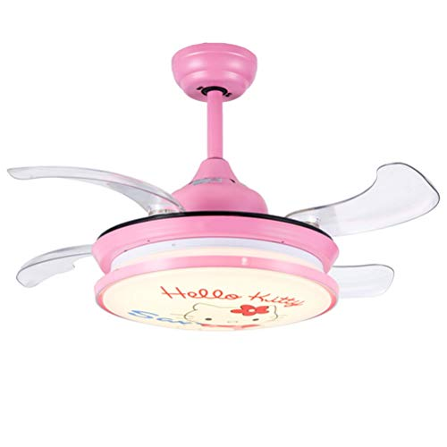 WWBOX Ventiladores invisibles, luces colgantes, ventiladores de techo para niños y niñas...
