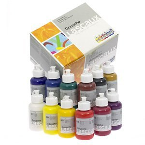 LASCAUX : GOUACHE : 85 ML : SET 12 BOTTLES