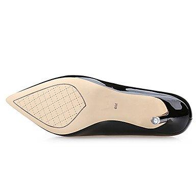 Moda donna sexy sandali scarpe da donna in pelle di brevetto Stiletto Heel tacchi Comfort Punta tacchi Abito casual più colori disponibili almond