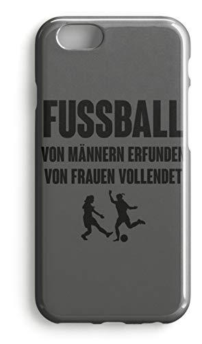 shirt-o-magic Handyhülle Fußball: Von Frauen vollendet - Case -iPhone 7-Mausgrau