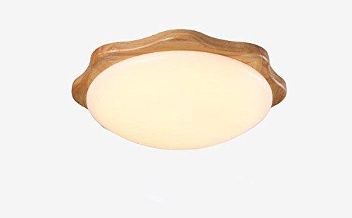GBT Led Deckenleuchte Holz Wohnzimmer Schlafzimmer Lichter , Round (Led-Leuchten, Warmes Licht, Weißes Licht, Kronleuchter, Innenbeleuchtung, Außenleuchten, Wandleuchten),round (Holz-herd-licht)