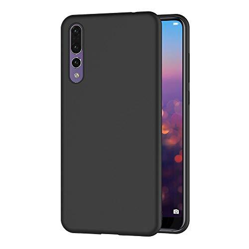 AOBOK Coque Huawei P30 Pro, Noir Ultra Fine Silicone Coque, TPU Bumper Housse Etui Premium Anti Choc Case pour Huawei...