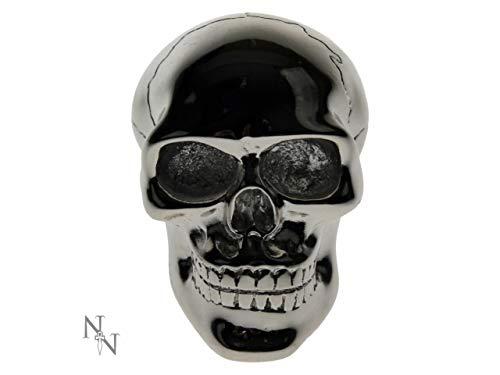 Preisvergleich Produktbild Weird Or Wonderful Nemesis Now Universal-Schaltknauf,  Totenkopf-Design,  8 cm,  Gothic-Stil,  Auto,  Van,  LKW,  Chrom,  Horror-Skelett-Geschenk