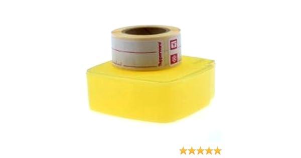 1a TUPPER E32 Gefrier-Etiketten mit Spender 100 Stck - gelb