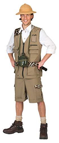 Männer Safari Kostüm - Karneval-Klamotten Safari Kostüm Herren Dschungel-Kostüm Wildhüter Kostüm für Männer Größe 48/50