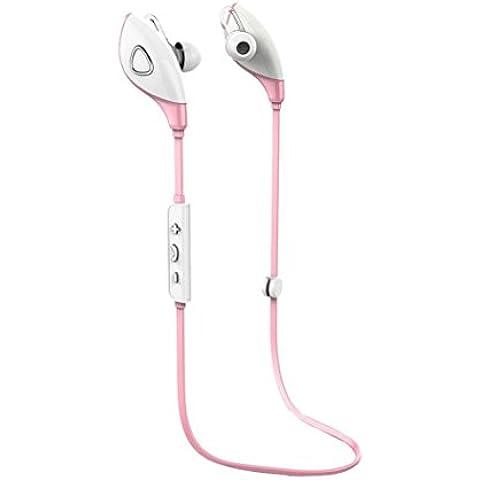 Rosado,Koly Bluetooth estéreo inalámbrico Deportes Auriculares manos libres para el teléfono