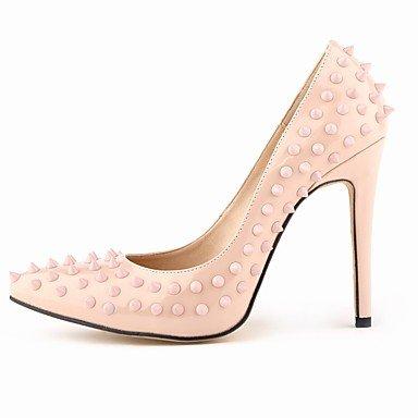 WSX&PLM Da donna-Tacchi-Matrimonio Serata e festa-Club Shoes Comoda-A stiletto-PU (Poliuretano)-Nero Blu Giallo Verde Rosso Arancione Tessuto almond