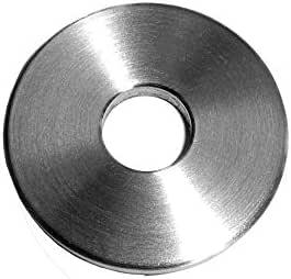 Ronde mit leicht gefaster Kanten und Mittelbohrung V2A einseitig geschliffen Mittelbohrung /Ø 12,5 mm, /Ø 40 mm - Dicke 3 mm