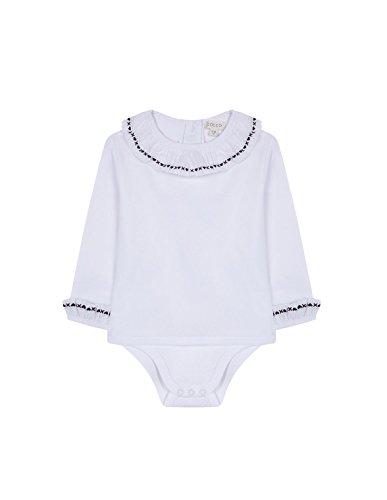 Gocco Camisa Body Bordada Blusa, Blanco WA, 6-9 Meses para Bebés