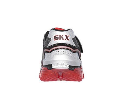 Baskets enfant Skechers Skech Air pour garçon en noir et rouge Noir