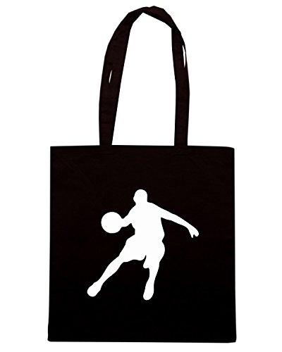 T-Shirtshock - Borsa Shopping OLDENG00394 basketball (2) Nero