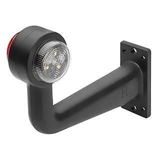 AdLuminis LED Positionsleuchte Rot Weiß   E-Prüfzeichen + IP67 Schutzklasse   12V 24V Begrenzungsleuchte + Schlusslicht   Ideal Für Anhänger, Wohnwagen, Boot, Transporter, LKW etc. (Seitlich Rechts)