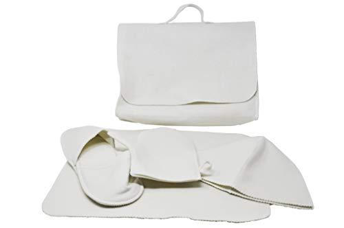 Set per sauna, valigetta e 4 accessori, taglia unica, colore: bianco