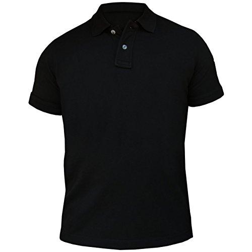 Männer und Herren POLO Shirt American Staffordshire Terrier SUMMER (mit Rückendruck) Schwarz