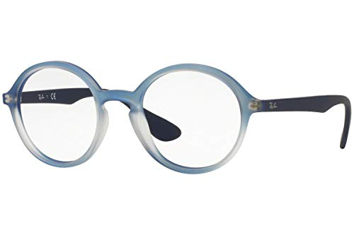 Ray-Ban unisex-adult RX7075 Brillen 47-20-145 5601 RB7075 Blaue Steigung Gummi Weiß groß