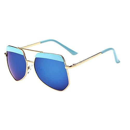 Sonnenbrille Neue Kinder Brillenmode Rundes Gesicht Multilateralen Big Frame Sonnenbrillen Für Mädchen Und Jungen Gold Blau