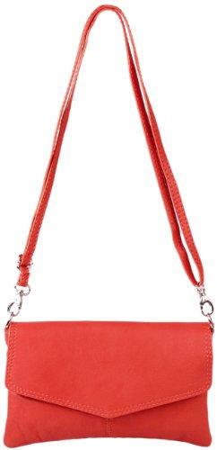 B Sarandon accessoires H Emmy x Leder Abendtasche Echt Clutch cm Rot 22x14 UFw8xqCfa