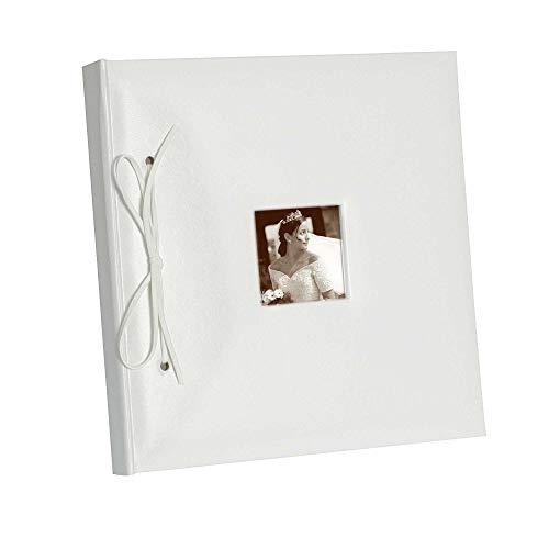 NEU Gästebuch mit Foto Fenster, weiß, 24x25 cm