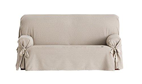Eysa Constanza - Funda de sofa de lazos, 3 plazas, color lino