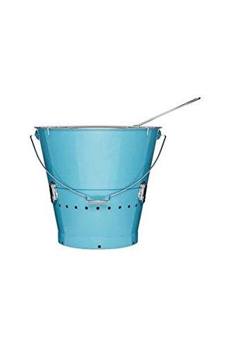 Sagaform - 5016569 - BBQ Grilleimer, groß blau - (Ø x H): 38 x 37 cm