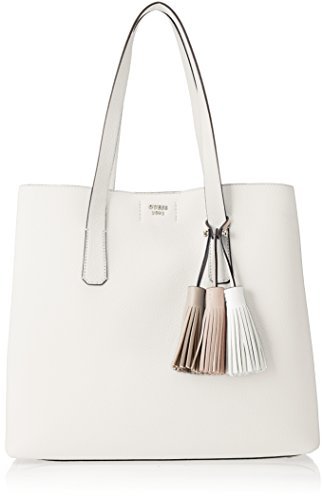 Guess Damen Bags Hobo Schultertasche, Weiß (White), 12.5x33.5x39 centimeters