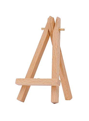 Marabu 1625000000100 - Mini Staffelei, Holzstaffelei für dekorative Zwecke, zum Aufstellen von Mini...