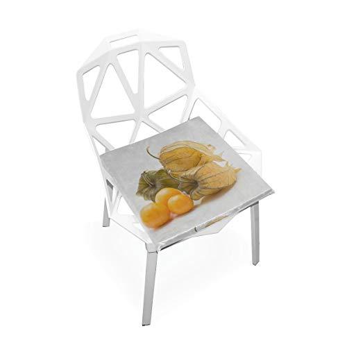 Goldene Beeren Benutzerdefinierte Weiche Rutschfeste Quadratische Memory Foam Chair Pads Kissen Sitz Für Home Kitchen Esszimmer Büro Schreibtisch Möbel Innen 16x16 Zoll -