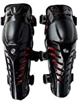 Set of Fox Raptor1 Motorcycle Racing Knee/Shin Guard Pad (BLack, Set of 2)