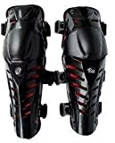 #9: Fox Raptor1 Motorcycle Racing Knee Guard Pad (Black and Red, Set of 2)
