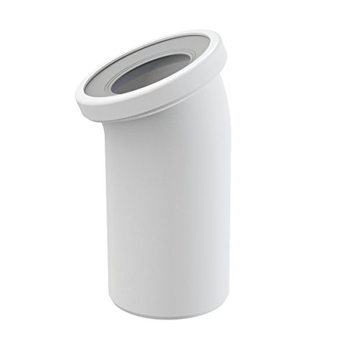 WC-Anschluß Bogen 22 Grad Abfluß weiß weiss WC-Abfluß Abflussrohr WC Verbindung für Toilette