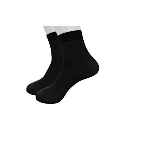 XuxMim 4 Paar Bambusfaser Ultradünne elastische seidige kurze Seidenstrümpfe Herren Socken