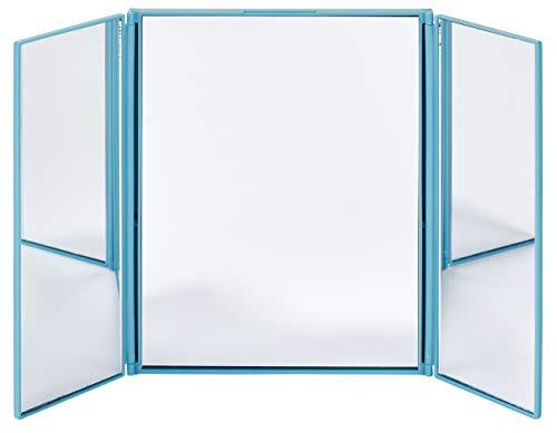 moses. Fernweh Reisespiegel mit Standfuß, Beidseitig ausklappbarer Kosmetikspiegel für unterwegs, 1er Pack(1 x 1 Stück)