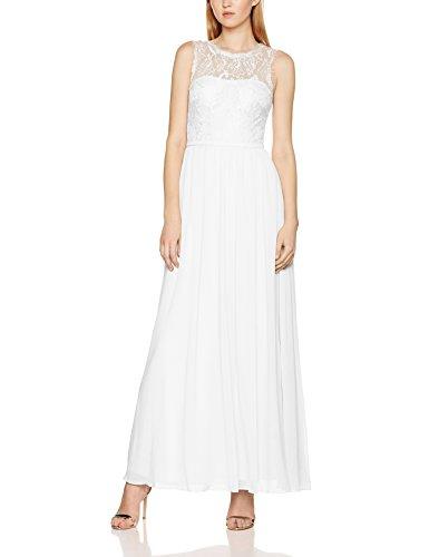 Laona Damen Partykleid LA81804L, Weiß (Cream White), 36 (Herstellergröße: S)