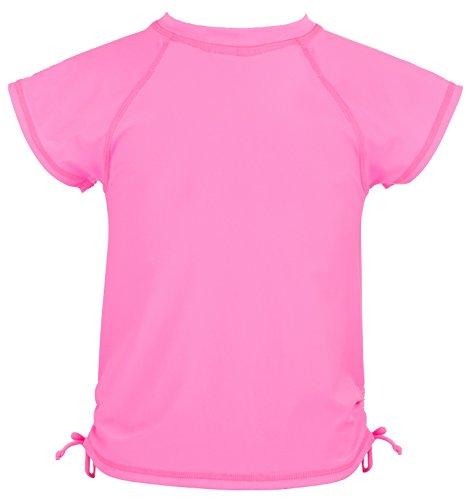 Mädchen Rock Kleinkind-shirt (Snapper Rock Mädchen T-shirt für Mädchen, rosa (Fuschia Neon), 4-5 Jahre (Herstellergröße: 104-110cm))