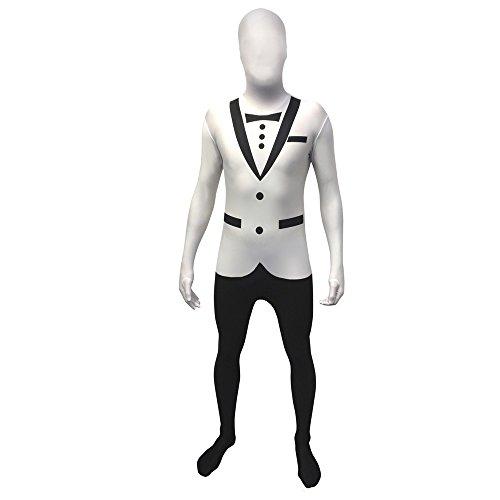 Weiße Morphsuits - Morphsuits Offizieller Erwachsene Weiß Smoking Anzug