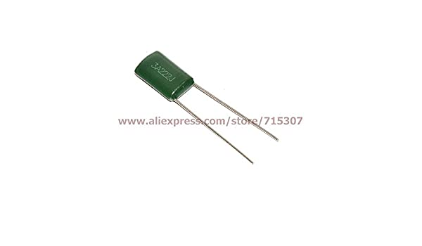 20PCS 1000V 0.0022uF 2.2nF 2200pF 3A222J ±5/% Mylar Film Capacitors Radial