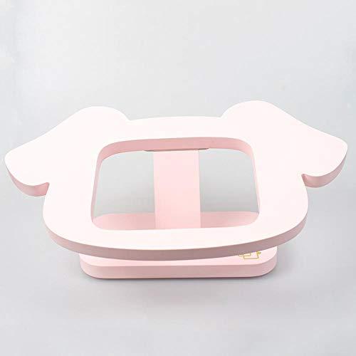 Dixinla Pet Schüssel Diamant Schale Rack aus Holz Retro Keramik Schüssel Katze Hund groß Essen Becken 13.5x13.5cm (Hund Diamant Essen)