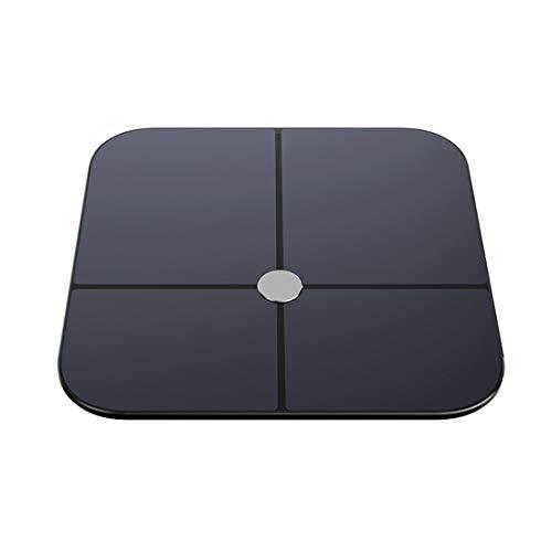 WDZC Elektronische Waage Mit Größerem Display Und Oberfläche Aus Gehärtetem Glas, Körperanalyse, Hochpräziser Sensor Cisco Lcd
