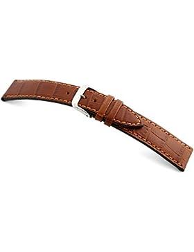 RIOS1931 Uhrenarmband Louisiana Crocodile Calf Rindleder Cognac Bandanstoss 18 mm