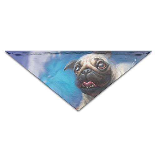 (Wfispiy Surfen Mops Hund Welpen Leben Hund Bandanas Schals Dreieck Lätzchen Schals Stilvolle Basic Dogs)