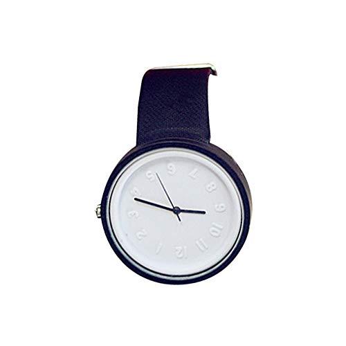 Level Damen Herren Kunstleder-Uhrenarmband-Quarz-runde geformte Legierung Shell Students beiläufige Armbanduhr